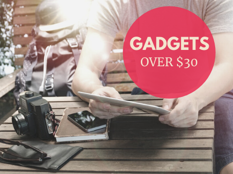 gadgets, over $30